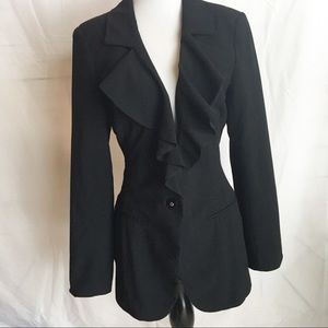White House Black Market blazer small ruffle